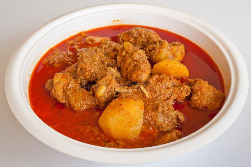 Карри Massaman, тайская еда типа стоковое фото rf