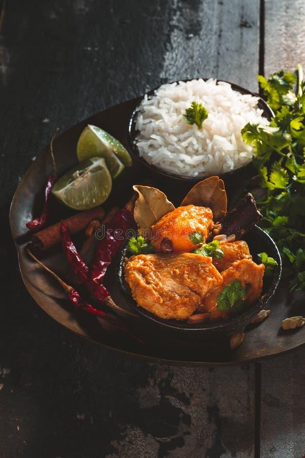 Карри Massaman тайское, тайская еда стоковое фото rf