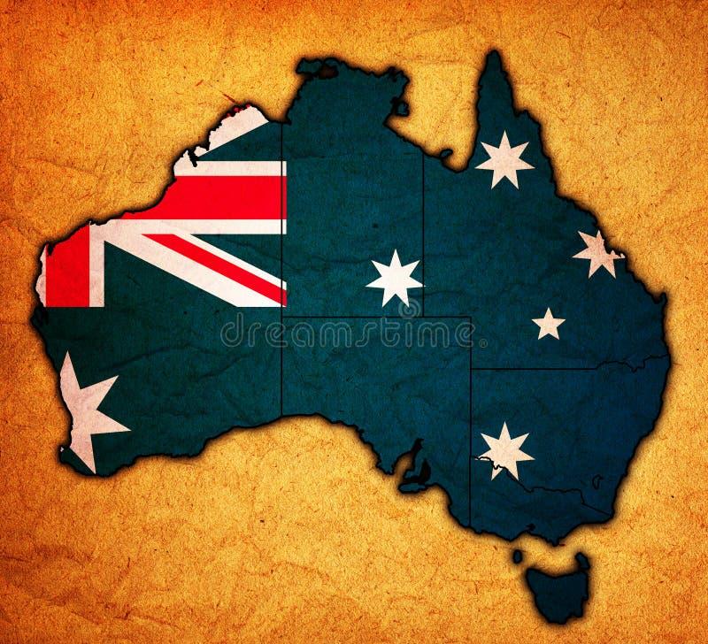 карта Австралии континентальная политическая иллюстрация вектора