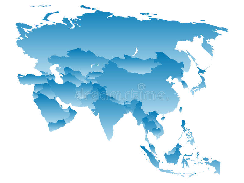 Карта Азия иллюстрация штока