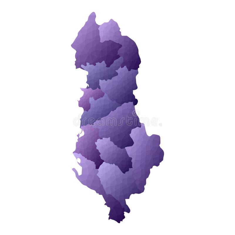 Карта Албании иллюстрация вектора