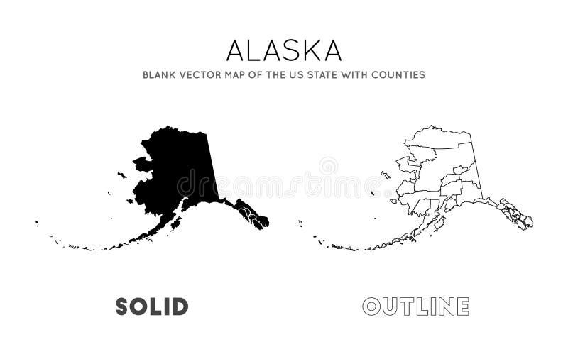 Карта Аляски бесплатная иллюстрация