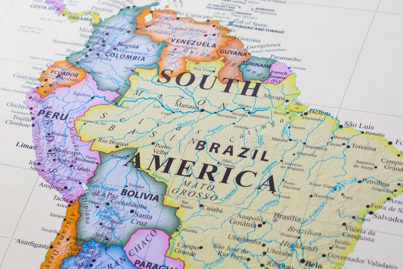 карта америки южная стоковые фото
