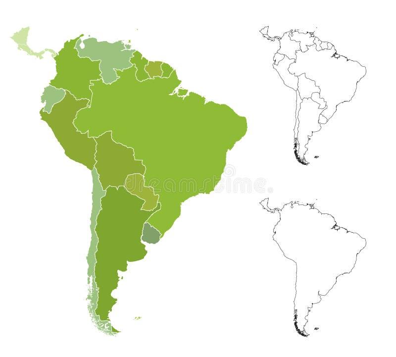 карта америки южная иллюстрация штока