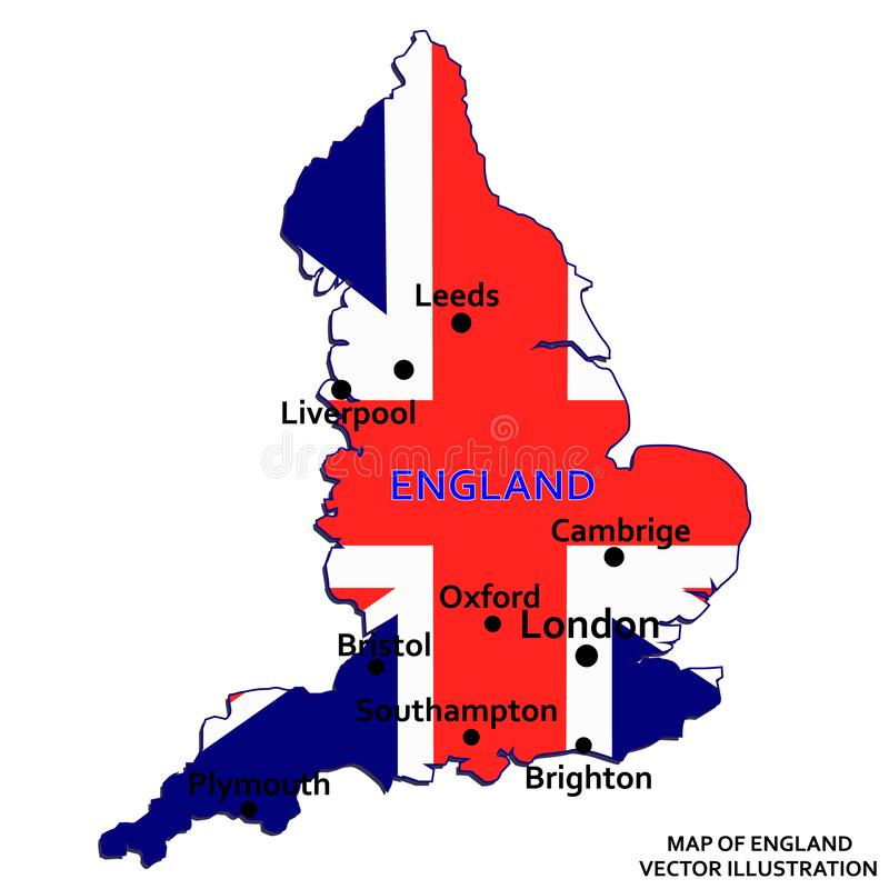 карта Англии вектор иллюстрация штока