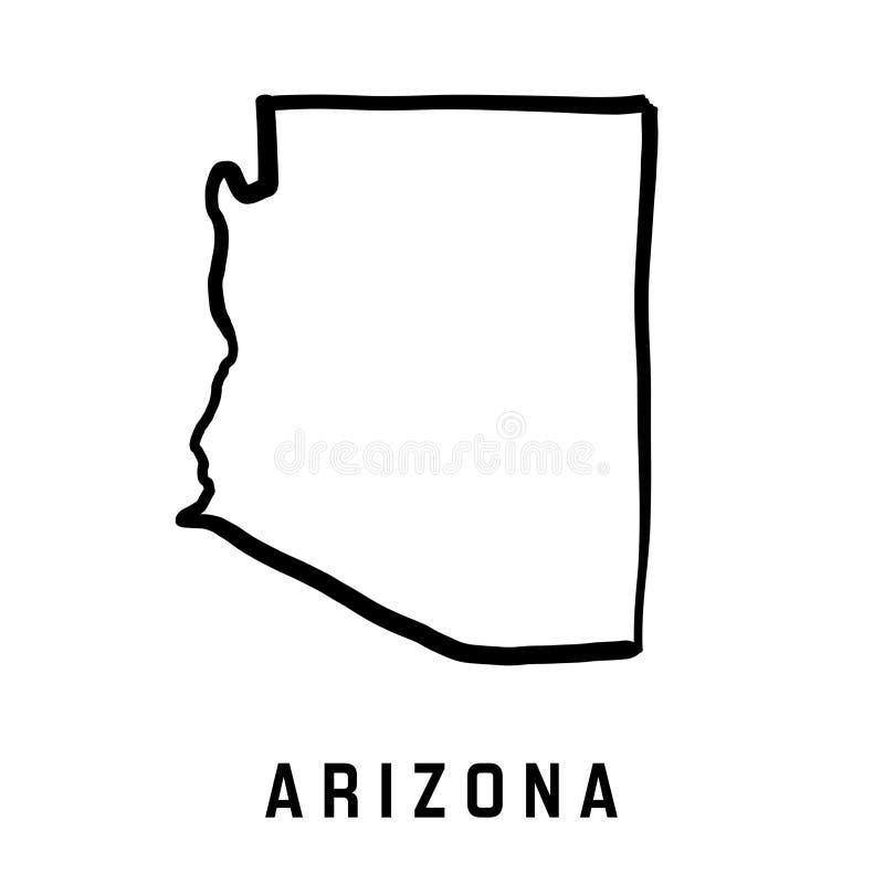 Карта Аризоны бесплатная иллюстрация