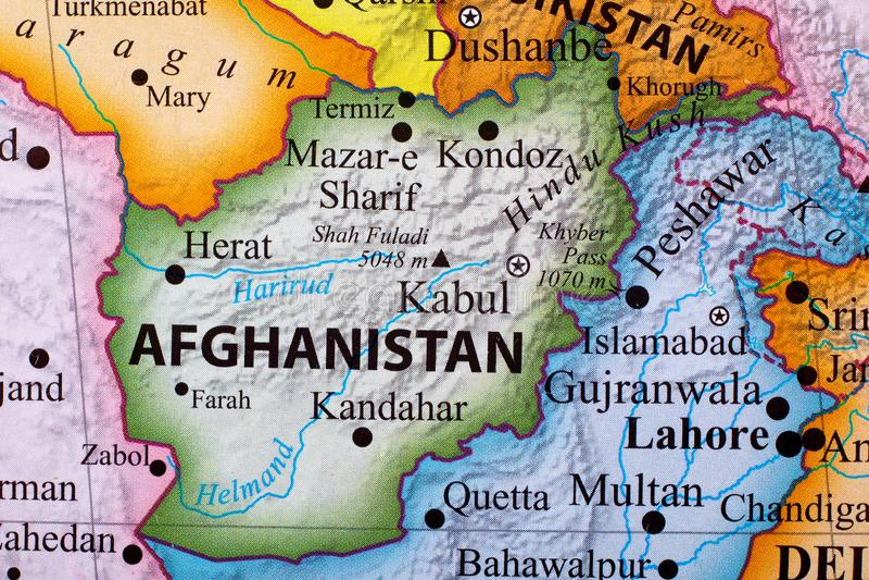карта Афганистана стоковое фото