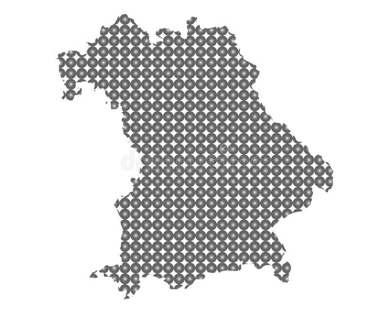 Карта Баварии в кругах иллюстрация штока