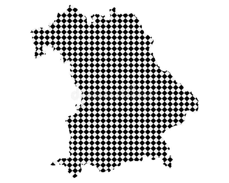 Карта Баварии с небольшими rhombs бесплатная иллюстрация