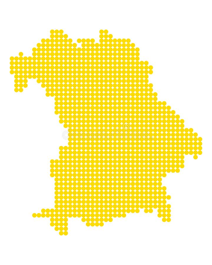 Карта Баварии иллюстрация штока