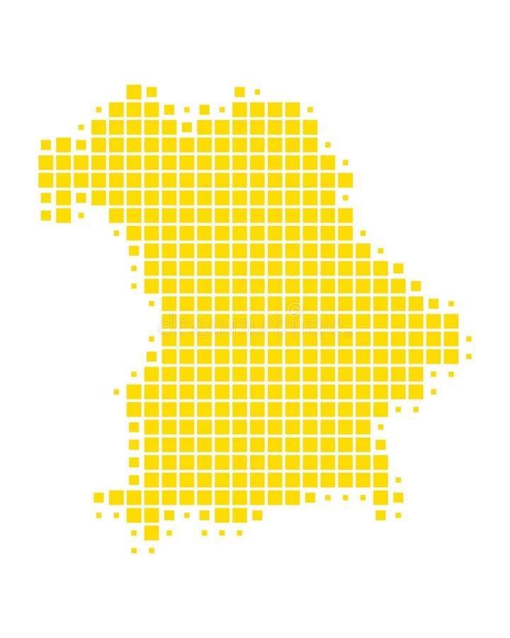 Карта Баварии иллюстрация вектора