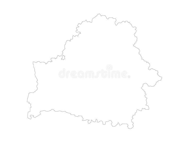 Карта Беларуси - Республика Беларусь иллюстрация вектора