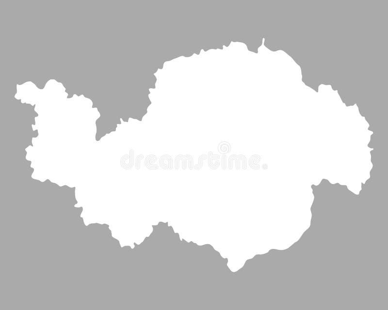 Карта более низкой Баварии иллюстрация штока