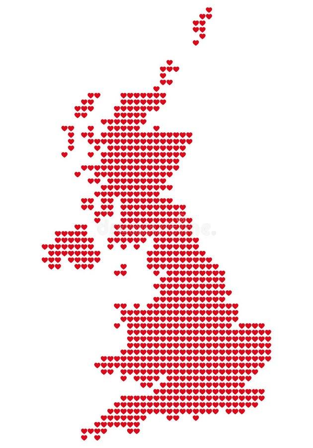 карта Британии большая иллюстрация вектора