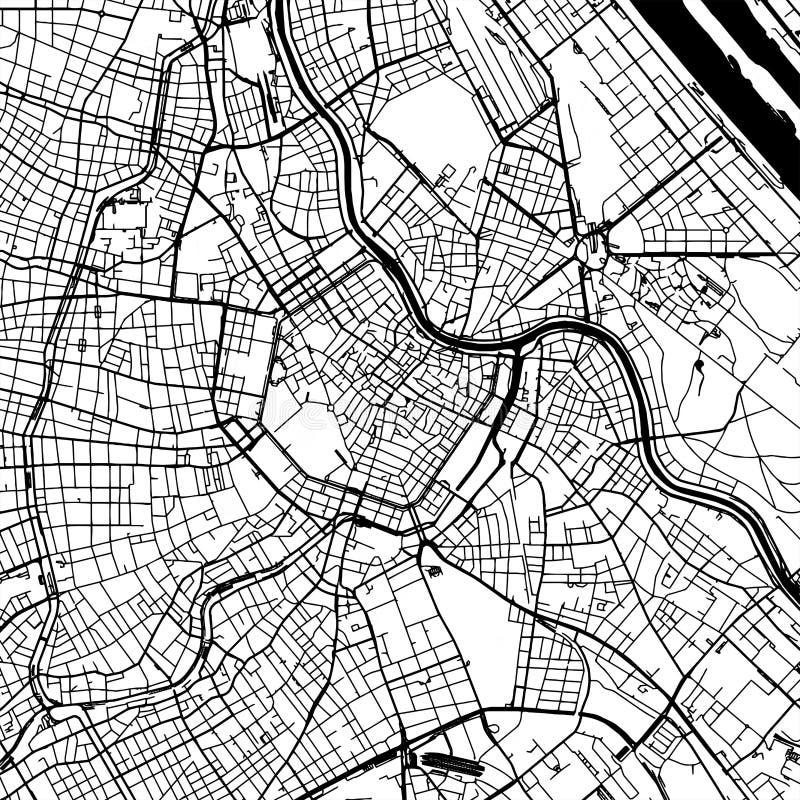 Карта вектора Австрии вены иллюстрация вектора