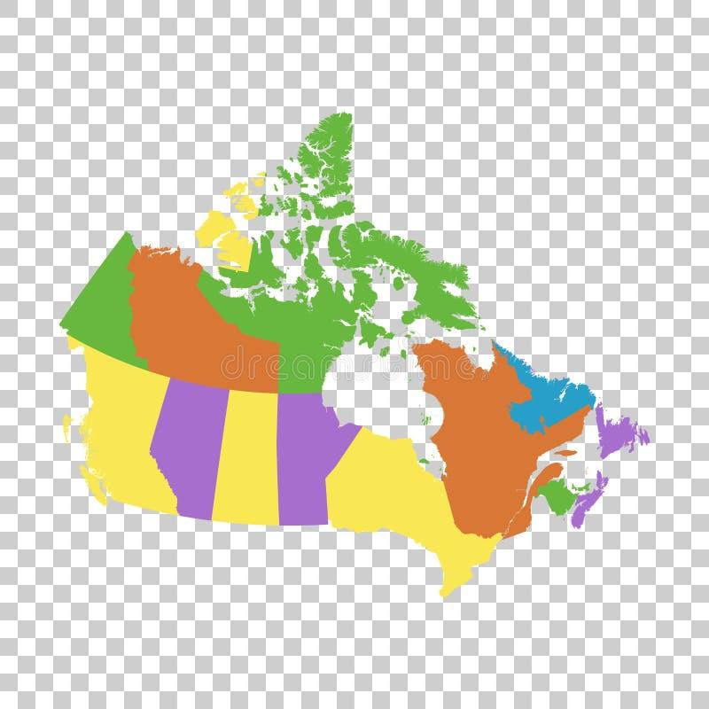 Карта вектора Канады политическая бесплатная иллюстрация