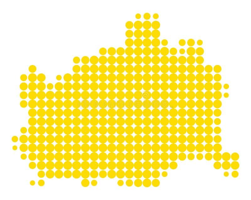 Карта вены иллюстрация штока