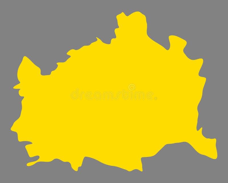 Карта вены иллюстрация вектора