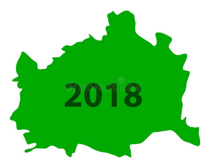 Карта вены 2018 бесплатная иллюстрация