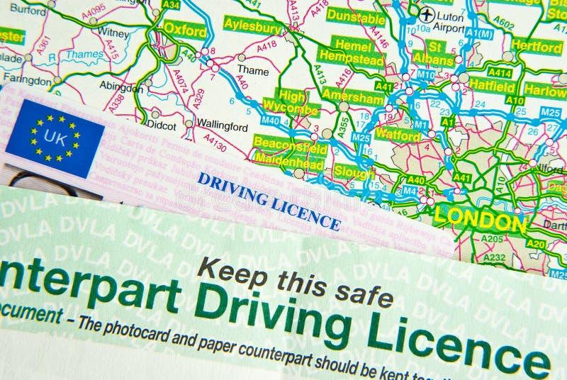 карта водительского права стоковая фотография