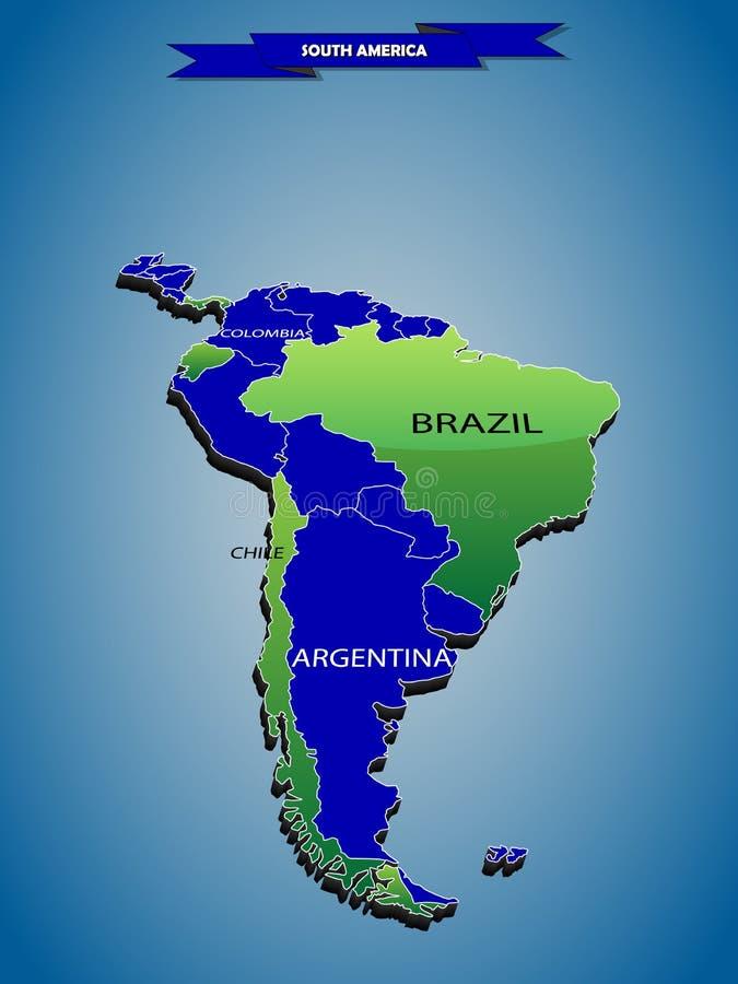 карта габаритного infographics 3 политическая Южной Америки иллюстрация штока