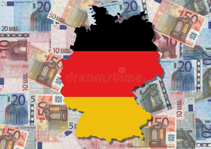 карта Германии евро бесплатная иллюстрация