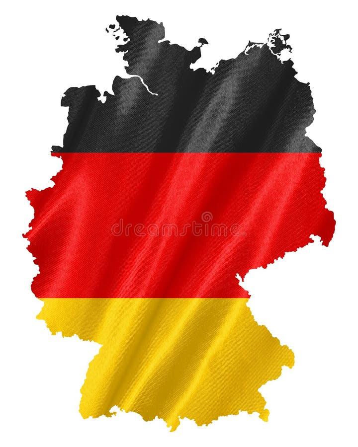 Карта Германии с флагом стоковые изображения rf