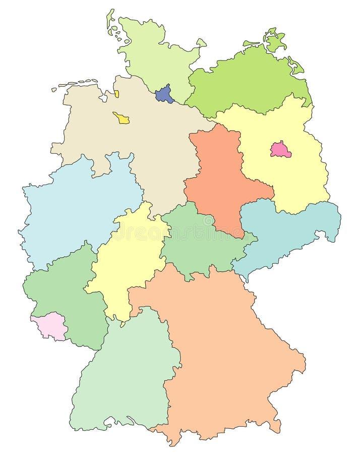 карта Германии бесплатная иллюстрация
