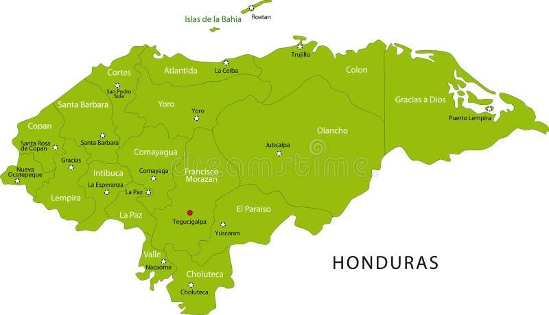 Карта Гондураса бесплатная иллюстрация