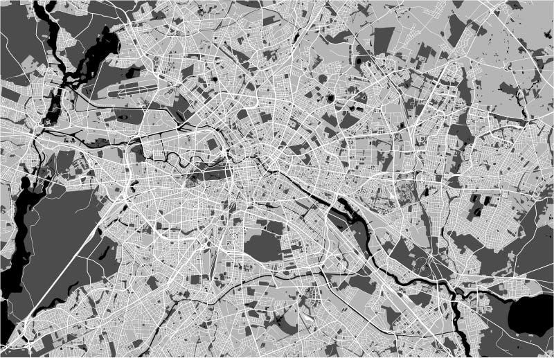 Карта города Берлина, Германии иллюстрация вектора
