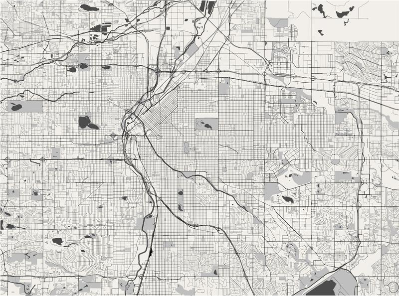 Карта города Денвер, Колорадо, США иллюстрация вектора