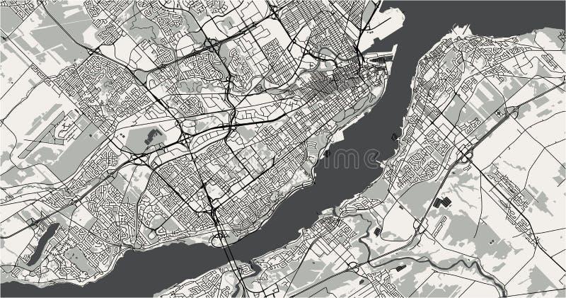 Карта города Квебека, Канады иллюстрация штока