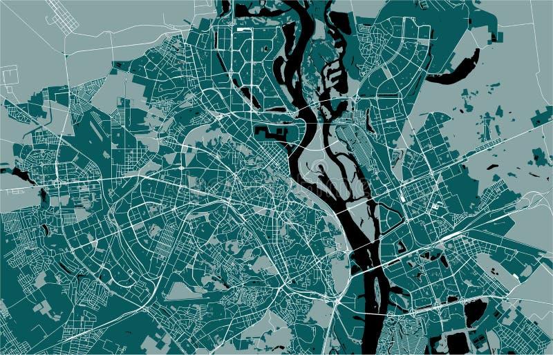 Карта города Киева, Украины иллюстрация вектора