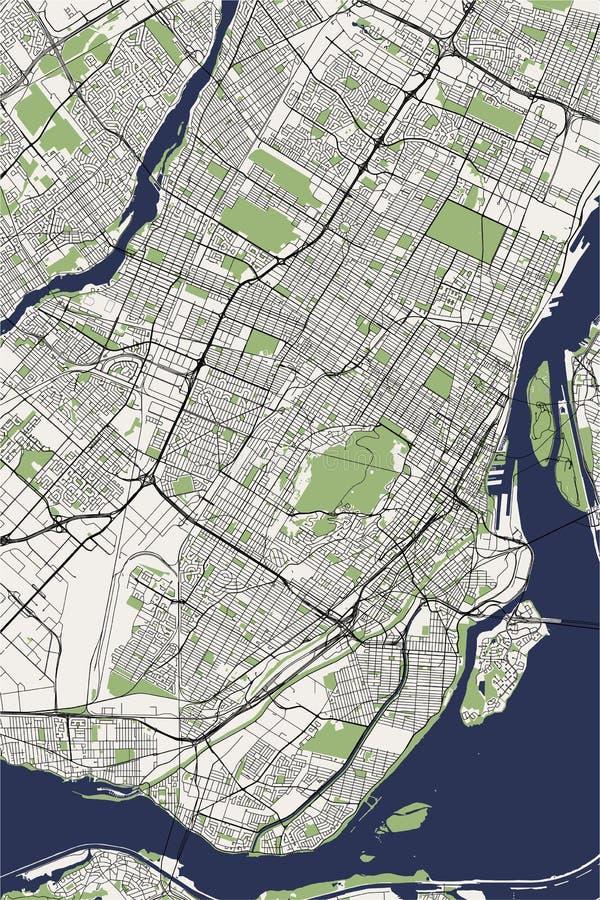 Карта города Монреаля, Канады бесплатная иллюстрация