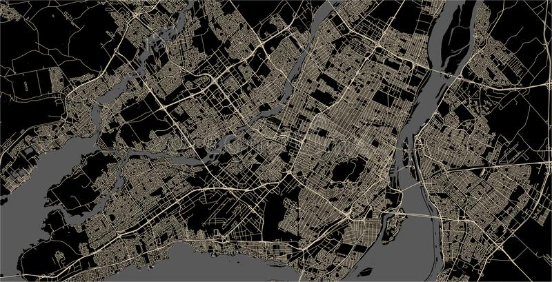 Карта города Монреаля, Канады иллюстрация вектора