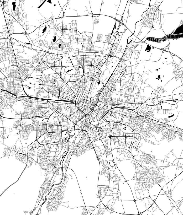 Карта города Мюнхена, Баварии, Германии бесплатная иллюстрация