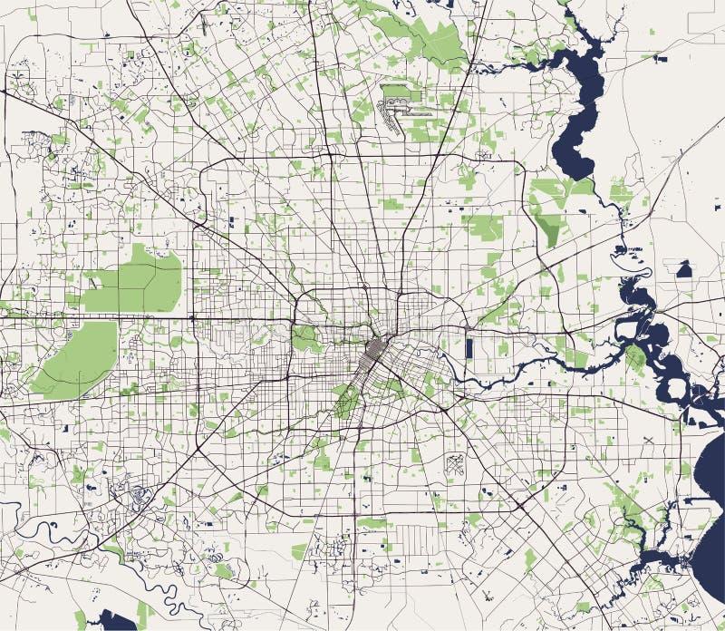 Карта города Хьюстона, u S положение texas США бесплатная иллюстрация