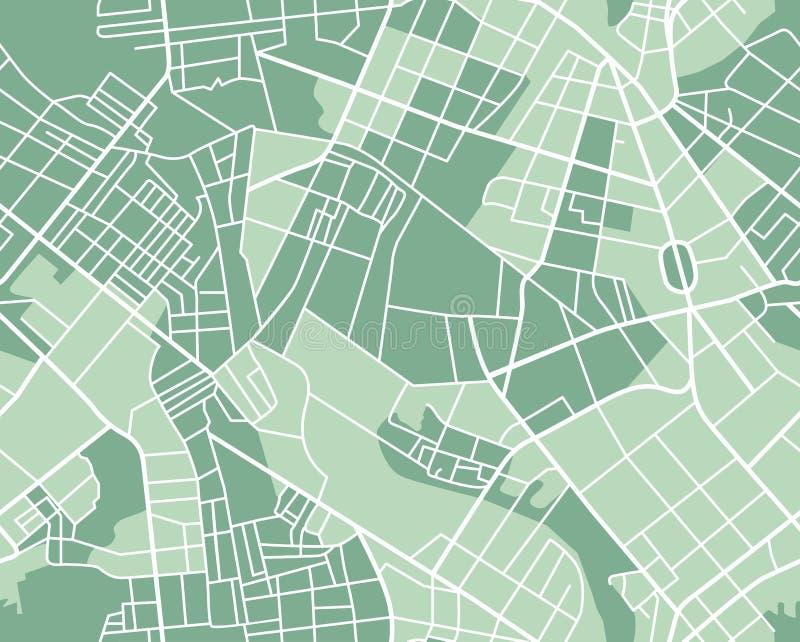 Карта города безшовная иллюстрация вектора
