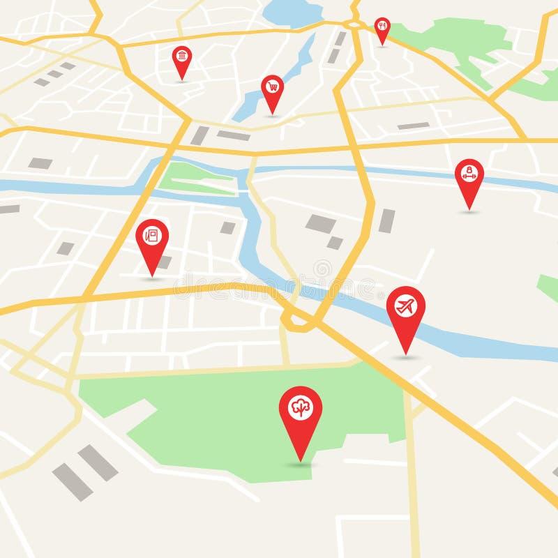 Карта города вектора бесплатная иллюстрация
