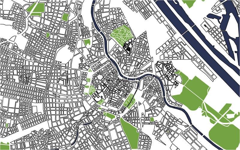 Карта города вены, Австрии бесплатная иллюстрация