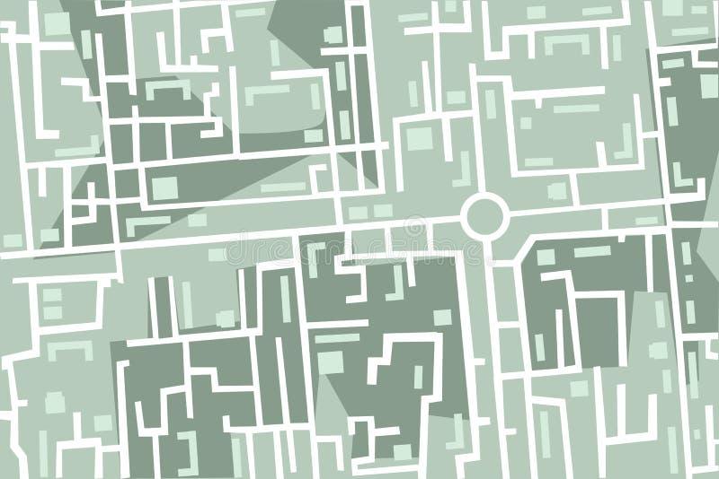 карта города предпосылки безшовная иллюстрация вектора