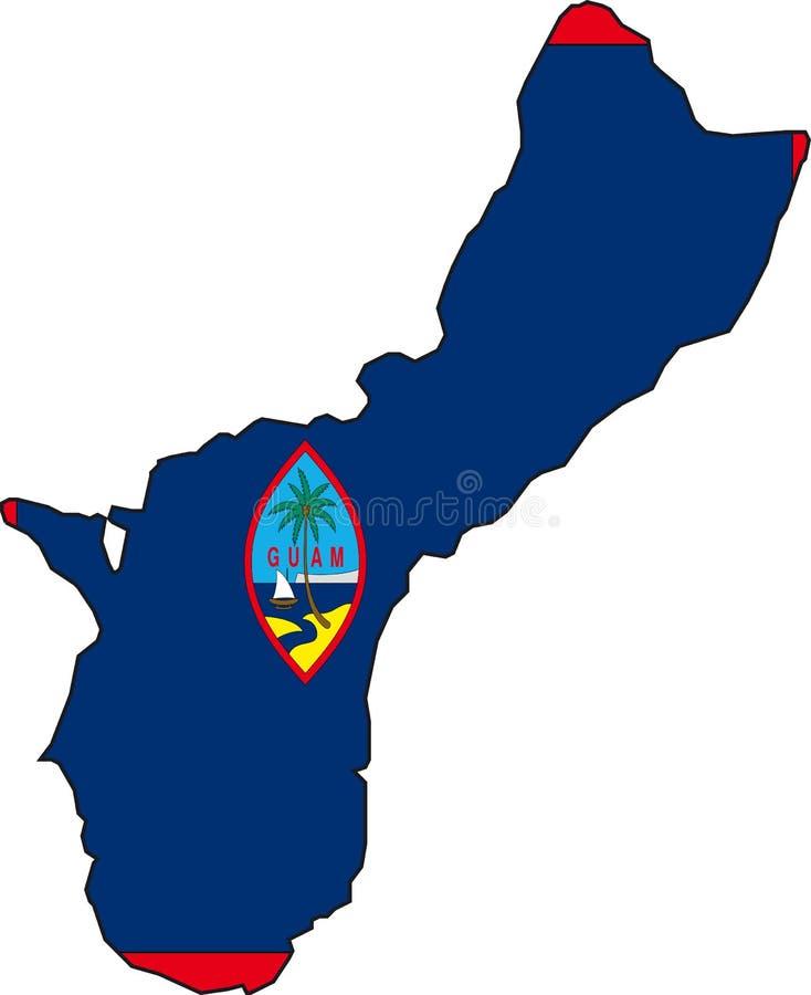 карта Гуама бесплатная иллюстрация