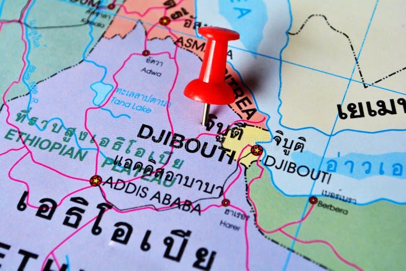 Карта Джибути стоковое изображение rf