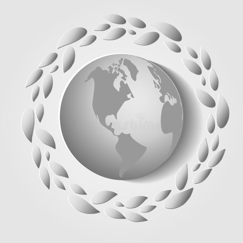 Карта дня мировой окружающей среды r бесплатная иллюстрация