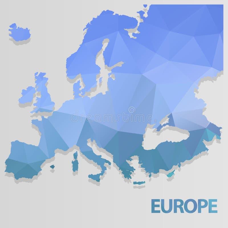 Карта европы иллюстрация вектора