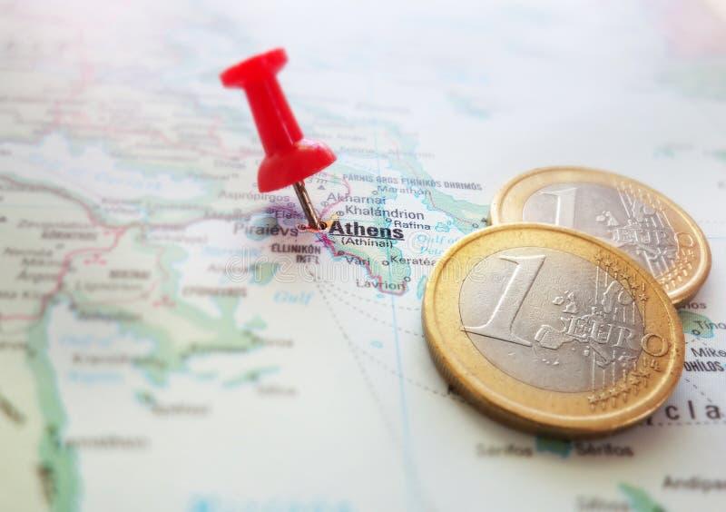 Карта евро Греции стоковые изображения rf