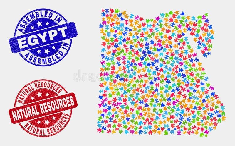 Карта Египта головоломки и огорчить печати собранные и природный ресурс бесплатная иллюстрация