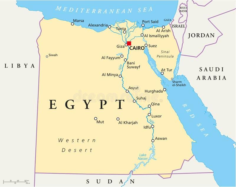 Карта Египта иллюстрация вектора