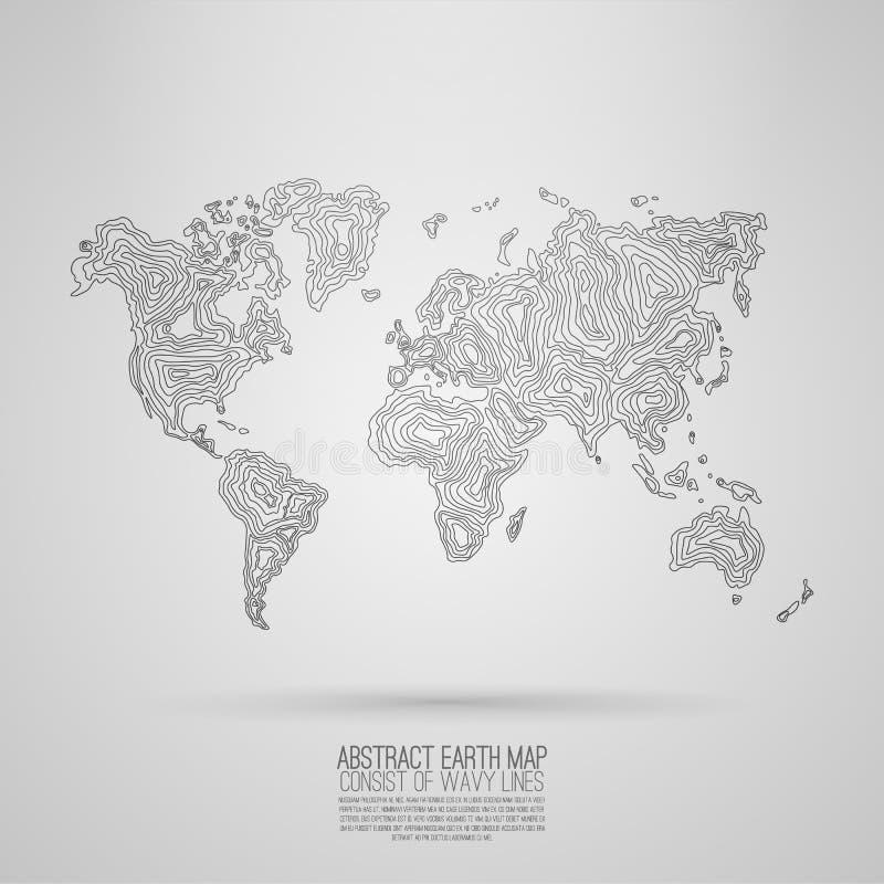 Карта земли вектора стоковые изображения