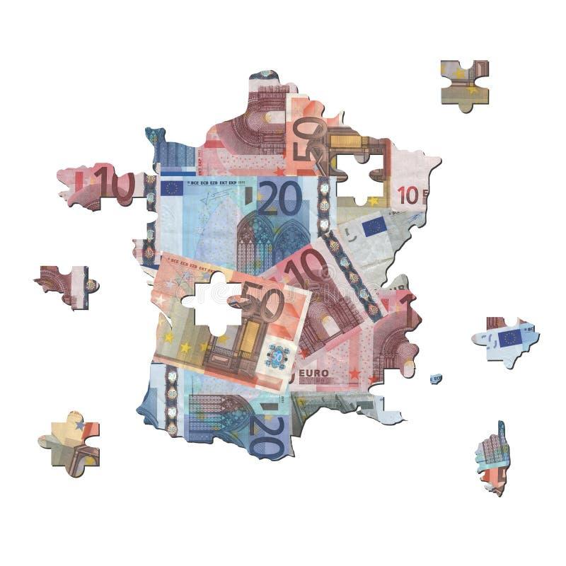 карта зигзага евро французская бесплатная иллюстрация